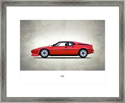 Bmw M1 1979 Framed Print by Mark Rogan