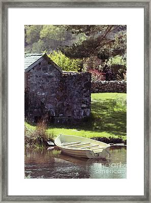 Boat At Llyn Padarn Framed Print by Amanda Elwell
