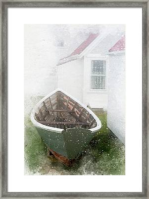 Boat On Monhegan Island Framed Print