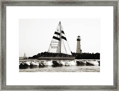 2 Boats Approach 2 Framed Print