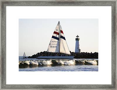 2 Boats Approach Framed Print by Marilyn Hunt