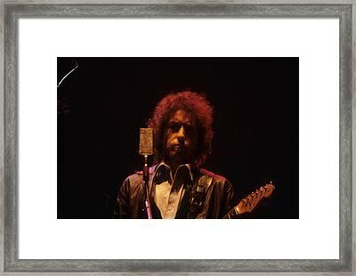 Bob Dylan Framed Print by David Bishop