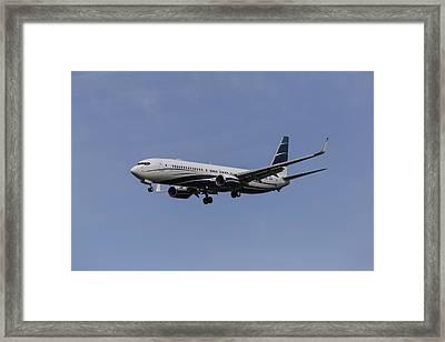 Boeing 737 Private Jet Framed Print by David Pyatt