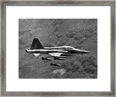 Bombing Vietnam Framed Print by Underwood Archives