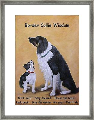 Border Collie Wisdom Framed Print