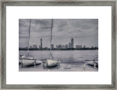 Boston Skyline From Mit Sailing Pavilion Framed Print by Joann Vitali