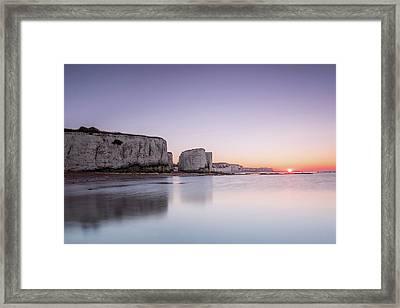 Botany Bay Sunset Framed Print by Ian Hufton