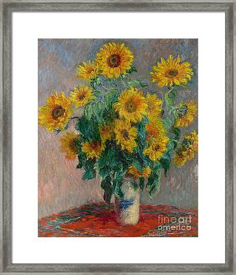 Bouquet Of Sunflowers Framed Print