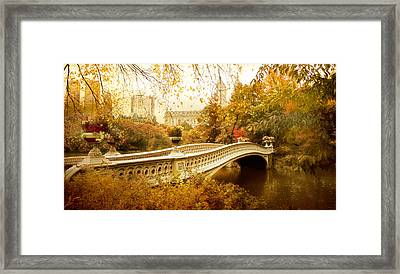 Bow Bridge Autumn Framed Print