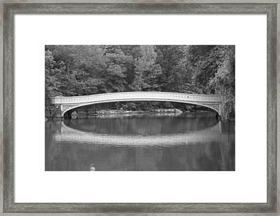 Bow Bridge Central Park Framed Print by Christopher Kirby