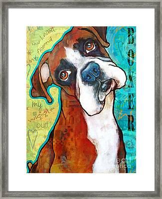 Boxer Love Framed Print