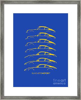 Boxer Sports Car Silhouettehistory Framed Print by Gabor Vida