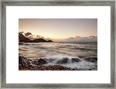 Bracelet Bay And The Mumbles Lighthouse Framed Print