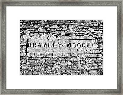 Bramley-moore Dock Liverpool Docks Dockland Uk Framed Print by Joe Fox