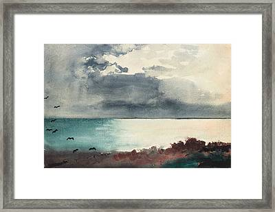 Breaking Storm Coast Of Maine Framed Print