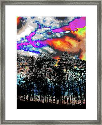 Bright Braddock Sunset Framed Print