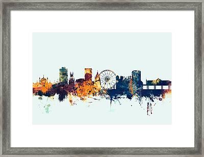 Brighton England Skyline Framed Print