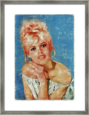 Brigitte Bardot, Actress Framed Print