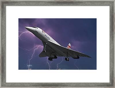 British Airways Concorde Framed Print