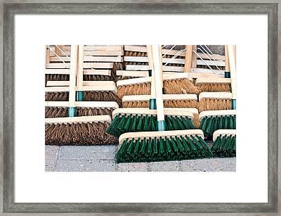 Brooms Framed Print by Tom Gowanlock
