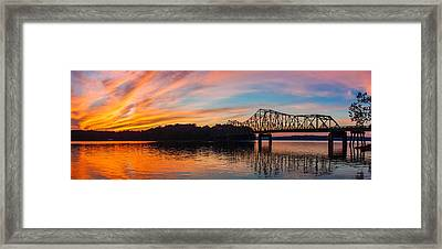 Browns Bridge Sunset Framed Print