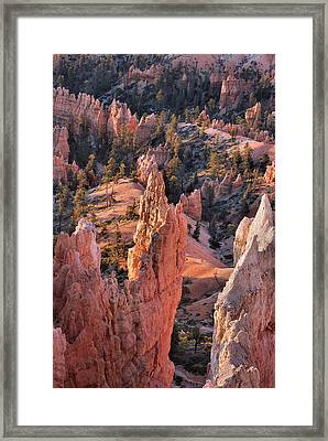 Framed Print featuring the photograph Bryce Canyon Sunrise by Stephen  Vecchiotti