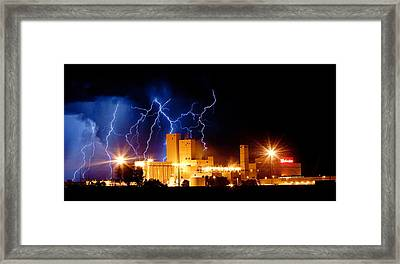 Budweiser Lightning Thunderstorm Moving Out Crop Framed Print by James BO  Insogna