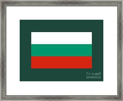 Bulgaria Flag Framed Print by Frederick Holiday