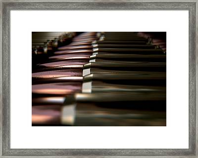 Bullet Array Framed Print by Allan Swart