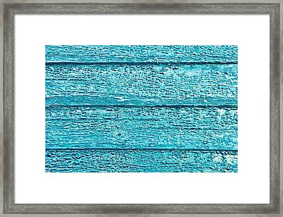 Bumpy Wooden Surface Framed Print by Tom Gowanlock