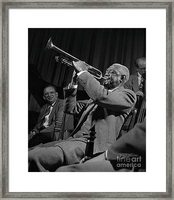 Bunk Johnson With The Doc Evans Band Framed Print by The Harrington Collection
