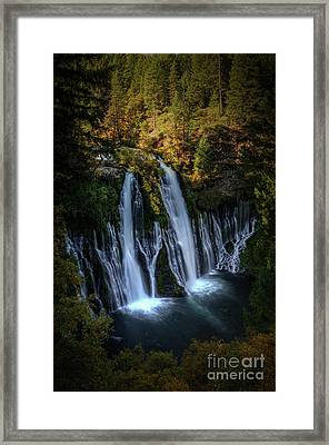 Framed Print featuring the photograph Burney Falls by Kelly Wade