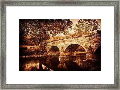 Burnside Bridge Framed Print by Mick Burkey