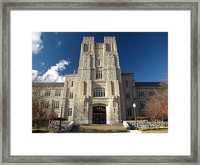 Burruss Hall At Virginia Tech Framed Print