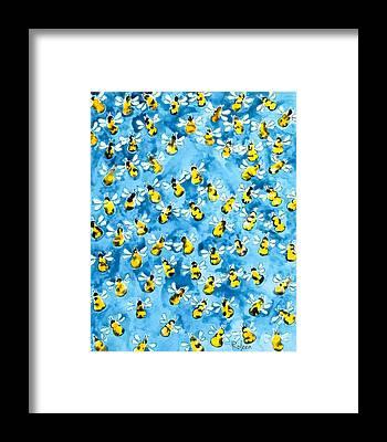 Bees Framed Prints