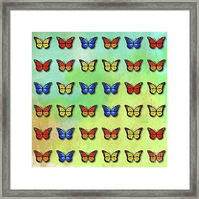 Butterflies Pattern Framed Print