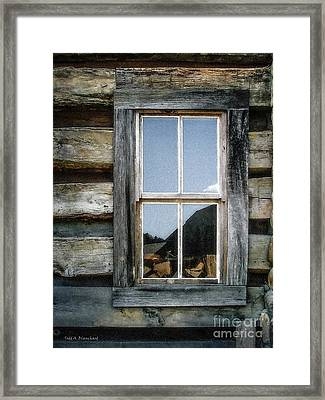 Cabin Window Framed Print by Todd A Blanchard