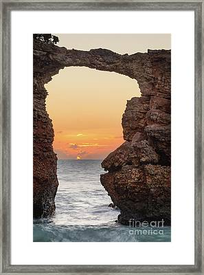 Cabo Rojo Arch Sunset Framed Print by Ernesto Ruiz