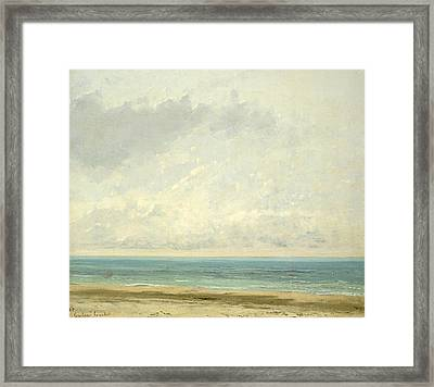 Calm Sea Framed Print by Gustave Courbet