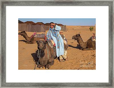 The Camel Driver Framed Print by Rene Triay Photography