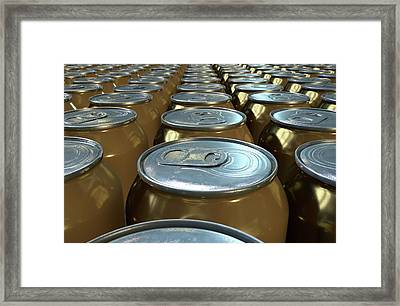 Can Production Line Framed Print