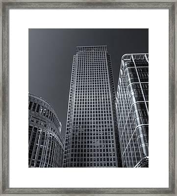 Canary Wharf Framed Print by Martin Newman