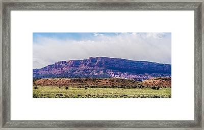 Canyon Mountains Formations Panoramic Views Near Paria Utah Park Framed Print