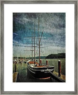 Framed Print featuring the photograph Cape Foulweather Tall Ship by Thom Zehrfeld