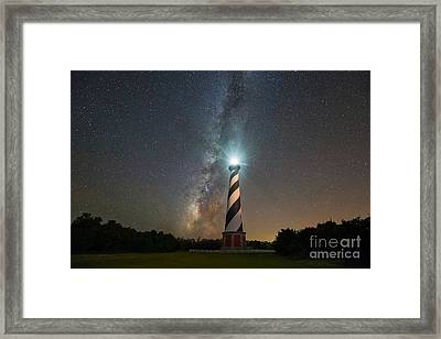 Cape Hatteras Lighthouse Milky Way Framed Print