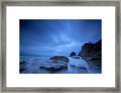 Framed Print featuring the photograph Cape Kiwanda by Evgeny Vasenev