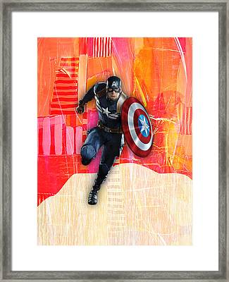 Captain America Collection Framed Print by Marvin Blaine