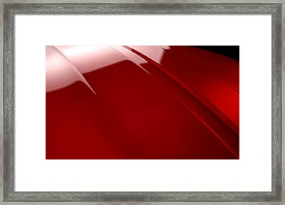 Car Contour Cherry Red Framed Print