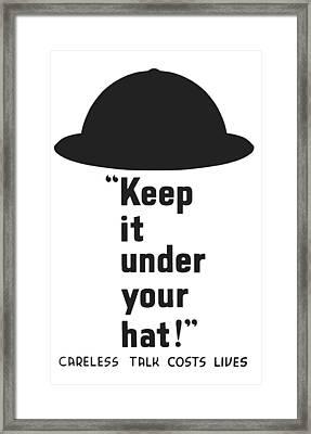 Careless Talk Costs Lives Framed Print