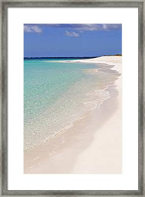 Caribbean Beach. Framed Print by Fernando Barozza